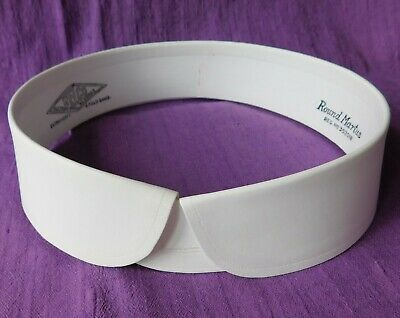 "Vintage Welco collar size 18.5"" Round Martus detachable UNUSED stiff starched"