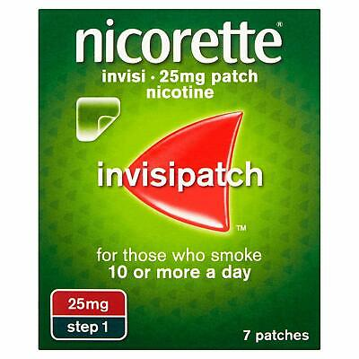 NICORETTE INVISI 10mg / 15mg / 25mg Patches X 7 (Choose Strength) FAST & FREE