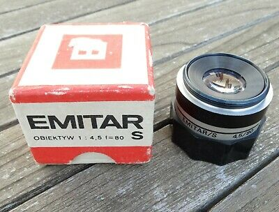 PZO Emitar-S 80mm f4.5 Enlarging Lens (Boxed) - Cleaned and Tested