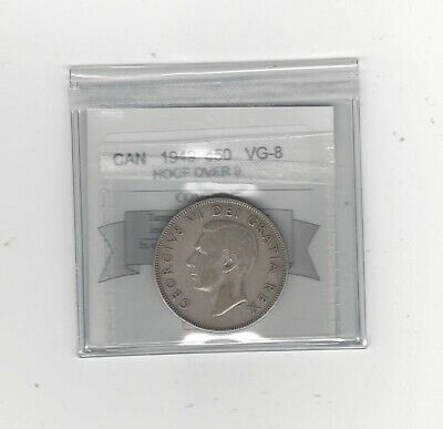 1949 Hoof Over 9, Coin Mart Graded Canadian Silver 50 Cent, *VG-8*
