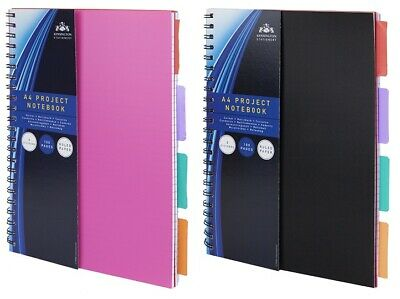 A4, A5, A6 Project Notebook Workbook Spiral Bound Lined Page Ideas Planner Diary