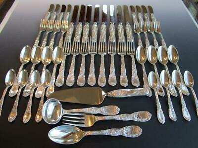 Chrysanthemum By Tiffany & Co. Sterling Silver Flatware Set S-8+Servers*52P-Mint
