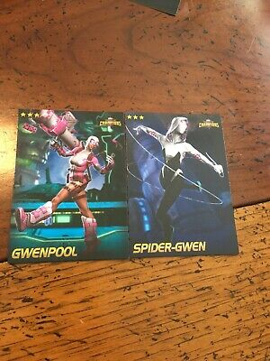 Marvel Contest Of Champions Nonfoil GwenpooL & 🕷 Spider-Gwen @ Dave & Busters