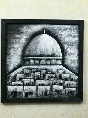 A Painting Of THE Old City  INSIDE THE DOME OF THE ROCK Using Acrylic Colors