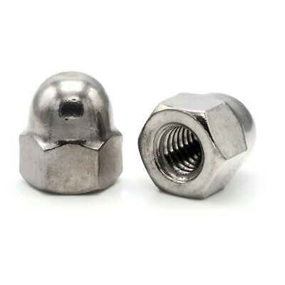 High Crown Cap Acorn Hex Nuts 18-8 Stainless Steel Tall Cap Nuts All Sizes+Qtys