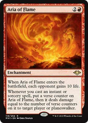ASSOLO DI FIAMME - ARIA OF FLAME Magic MH1 Mint