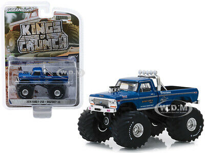 """1974 Ford F-250 Monster Truck """"bigfoot #1"""" 66-Inch Tires 1/64 Greenlight 49040 A"""