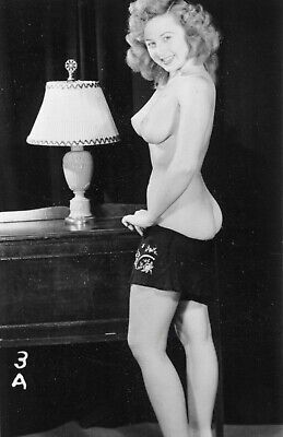 Vintage 1950s Photo Girl Pinup Naughty Topless Pointy Perky Tits Risque #1045