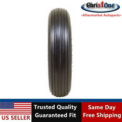 "2 PK of 14.5"" Universal 3.50-8 Flat Free T157 Ribbed Wheelbarrow Tires"