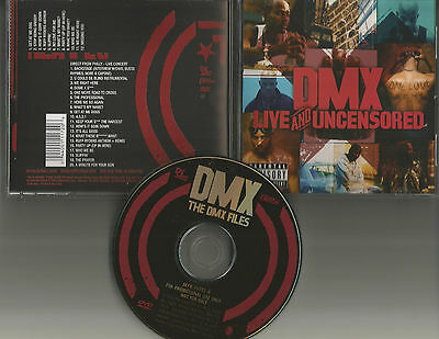 DMX Live Uncensored 20 LIVE TRX from PHILLY & 12 VIDEOS PROMO DVD Busta Rhymes