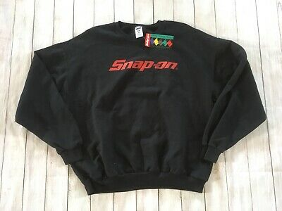 NWT 1980s Vintage Deadstock Snap On Tools Black Sweatshirt Size XL