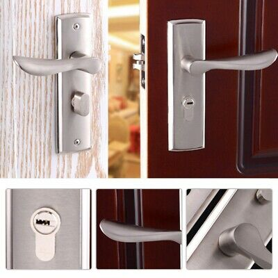Antique Door Handles Polished Internal Lock Lever Latch for Bedroom Bathroom
