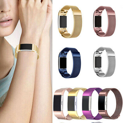 For Fitbit Charge 2 Replacement Magnetic Strap Loop Stainless Steel Wrist Band Z