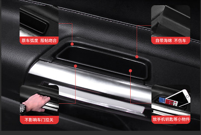 2pcs Car Interior Side Door Storage Box Holder For Ford Mustang 2015 2016 2017