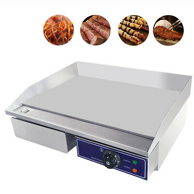 Commercial Electric Griddle BBQ Grill Flat Hot plate Stainless Steel Teppanyaki