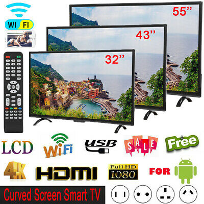 "32''/43""/55'' 4K 1080P HD LED LCD Smart TV WIFI Ethernet Television For Android"