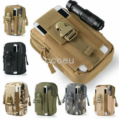 canvas Tactical Pouch Belt Waist Pack Bag Military Waist Fanny Pack Phone Pocket