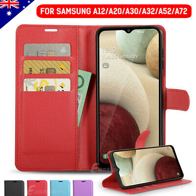 For Samsung Galaxy A20 A30 A5 A8 Leather Wallet Flip Magnetic Card Case Cover