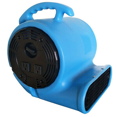 900 CFM Air Mover Blower Utility Floor Fan with Daisy Chain