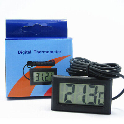 Lcd Digital Fish Aquarium Water Tank Thermometer Temperature -50°C To +110°C Uk