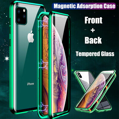 For iPhone X XR Xs Max 7 8 Plus New Double Sided Magnetic Adsorption Case Cover