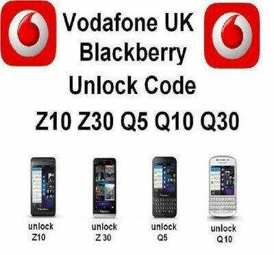 UNLOCK CODE For VODAFONE UK  BLACKBERRY PASSPORT 9720 Q10 Q20 Q30 Fast Service