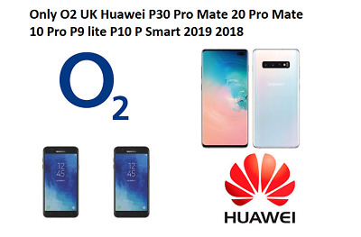 Only O2 Uk Almost All Huawei P Smart 2019 2018 P10 P9 y9 Prime UNLOCK CODE O2 UK