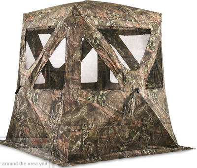 """Flare XL Tall Ground Blind Stand Up Shooting Large Windows Durable 84"""" Height"""