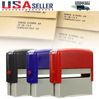 Personalised Self-Inking Rubber Date Stamp Business Name Address Office Supplies