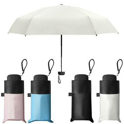 Super Mini Pocket Compact Umbrella Sun Anti UV 5 Folding Rain Windproof Travello