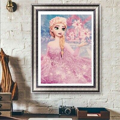 UK Frozen Elsa Full Drill DIY 5D Diamond Painting Embroidery Cross Stitch QW