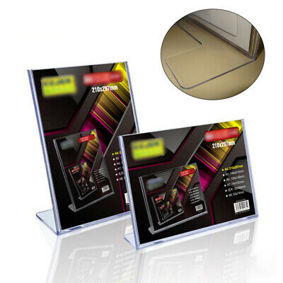 L Type Acrylic Menu Holder Perspex Poster Leaflet Sign Display Stands A7 A8 B7