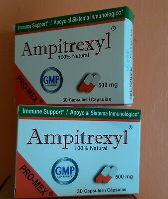 ProMex Ampitrexyl Natural Antibiotic, Dietary Supp 500 mg, 30 Caps (2 Pack)