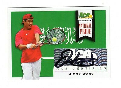 Jimmy Wang Atp 2013 Ace Authentic Grand Slam National Pride Autographs