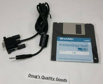 "Sharp Yo-190 Zq-190 Zq-195 Computer Serial Cable & 3.5"" Software Disc 1.0"