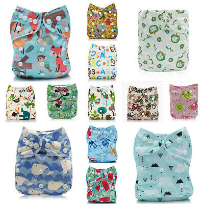 Baby One Size Nappy+ Pocket Insert Reusable Cloth Diapers ALVA 1 4-layers Bamboo