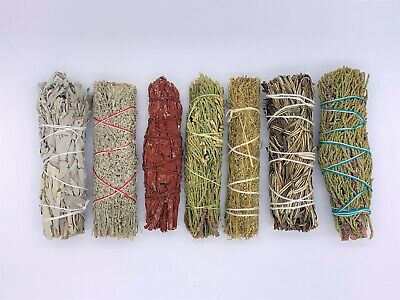 7X Sage Smudge Stick Kit: White, Blue, Dragons Blood, Cedar, Juniper, Desert