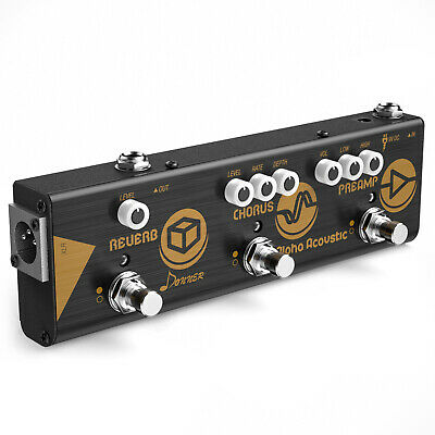 Donner Alpha Acoustic Chain Preamp Chorus Reverb Equalizer Guitar Effect Pedal