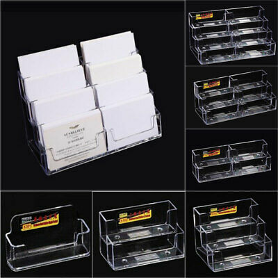 Business Card Box Acrylic Stand Holders Clear Container Storage Display Boxes