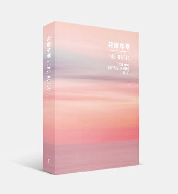 BTS - 花樣年華 The NOTES 1 230p Book + 4 BTS Photocard [ENGLISH ver.] Tracking no.