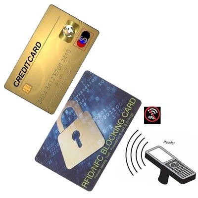 Credit Card Protector RFID Blocking NFC Signals Shield Secure For Purse Passport