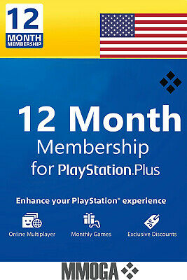 PlayStation Plus 12 Monate Months 365 Days PSN Network Key PS3 PS4 PS Vita - US