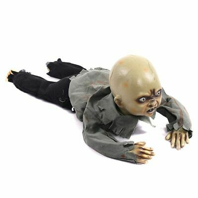 Animated Crawling Baby Zombie Scary Ghost Baby Doll Haunted Halloween Decor Prop