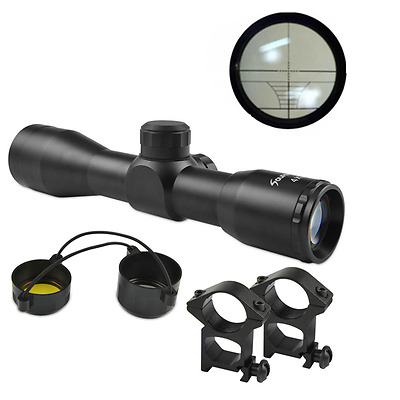 Compact 4X32 Rifle Reticle Sight Scope Mil-Dot Rangfinder For Hunt Optics Sports