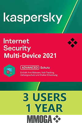 Kaspersky Internet Security 2020 Multi-Device 3 Geräte PC Mac Androd 1 Jahr EU