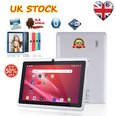 7 Inch Android Tablet 4GB Quad Core 4.4 Dual Camera Bluetooth Wifi Tablet UK PAD