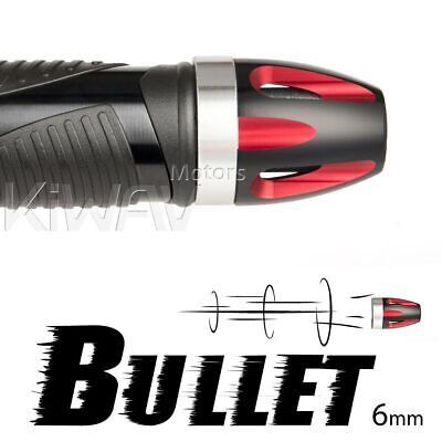 Aluminum bar ends Bullet red silver base 6mm bolt-on for Piaggio BV X9