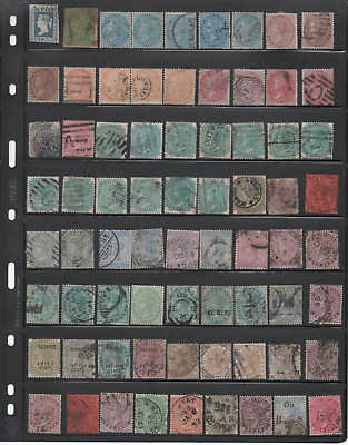 INDIA 1840-1899 QUEEN VICTORIA VALUABLE COLLECTION 105 STAMPS UNCKECKED, 1865 8a