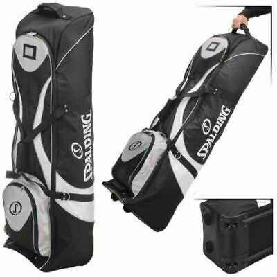 Spalding Deluxe Padded Golf Bag Flight Travel Cover Wheeled Case with Wheels