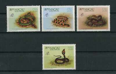 Portugal Macao Macau 1989 SNAKES REPTILES complete set MNH, FVF